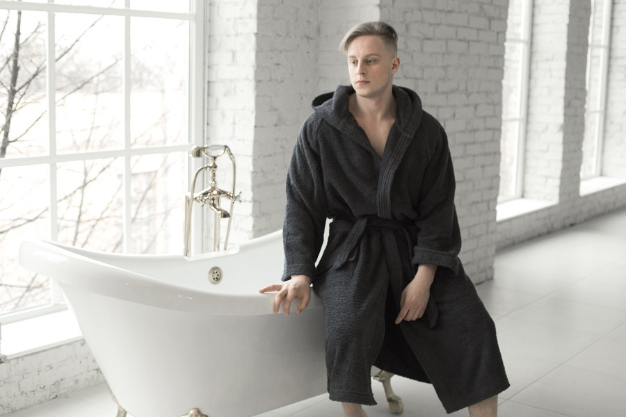 Graphite Men's Bath Robe  Банный халат S-M
