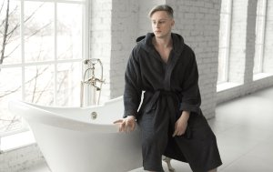 Graphite Men's Bath Robe  Банный халат
